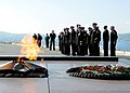 US Navy 110903-N-ON468-014 Sailors assigned to the guided-missile frigate USS Carr (FFG 52) attend a wreath-laying ceremony at the Alyosha World Wa.jpg