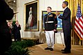 US Navy 110915-N-ZZ999-013 President Barack Obama applauds after awarding the Medal of Honor to former Marine Corps Sgt. Dakota Meyer.jpg