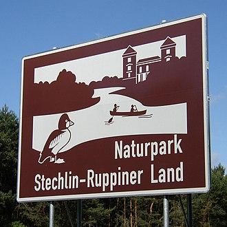 Stechlin-Ruppiner Land Nature Park - Image: U Tafel A24 Stechlin