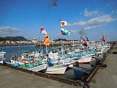Udono Port Fishing boats.jpg