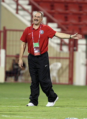 Uli Stielike - Steilike coaching Umm Salal in 2012