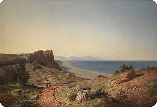 A Landscape. Recollections of Andalusia: the Mediterranean coast near Torremolinos