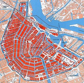 Binnenstad (Amsterdam) - Image: Unesco kaart Amsterdam