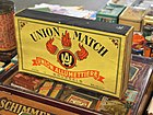 Union Match matchbox for advertising on a counter pic3