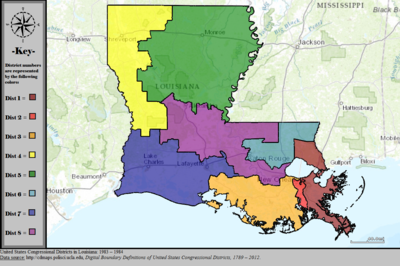 United States Congressional Districts in Louisiana, 1983 – 1984.tif