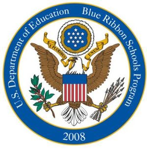 Elementary and Secondary Education Act - 2008 No Child Left Behind Blue Ribbon School Logo