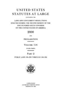 United States Statutes at Large Volume 114 Part 2.djvu