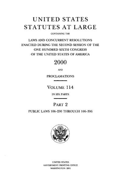 File:United States Statutes at Large Volume 114 Part 2.djvu