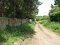 Unsurfaced road past St Ethelbert's church - geograph.org.uk - 1313154.jpg