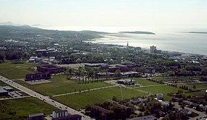 Université du Québec à Rimouski - Bird's eye view of UQAR's Rimouski campus