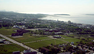 Université du Québec à Rimouski - Bird's eye view of UQAR's Rimouski campus