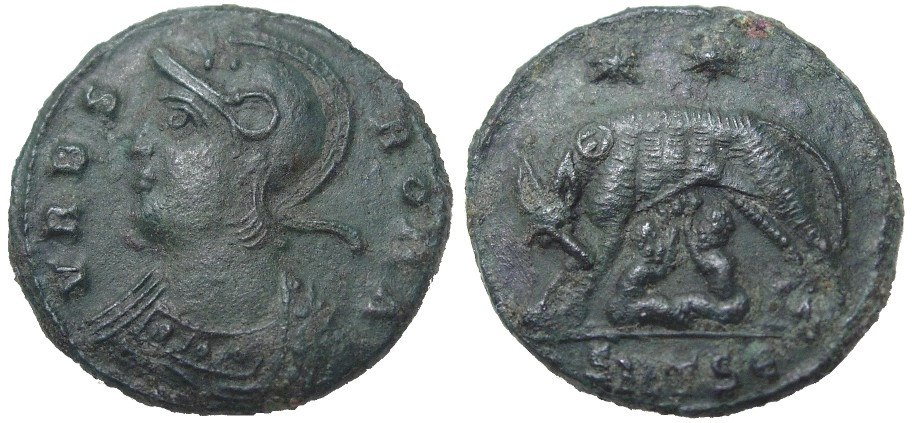 Urbs Roma, commemorative coin of Constantinople