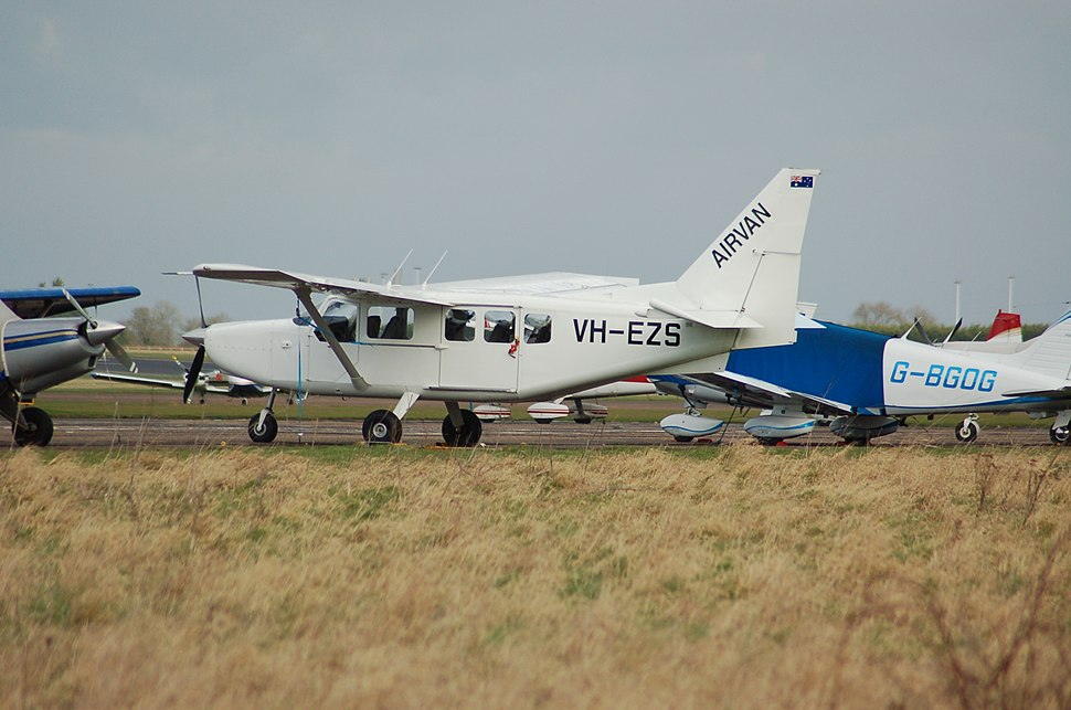 Photograph of the aircraft involved, showing its former registration VH-EZS
