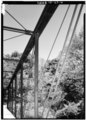 VIEW SHOWING TRUSS AND BRACE LINKS - Mill Creek Bridge, Mill Creek, Alton, Crawford County, IN HAER IND,13-ALT.V,1-6.tif