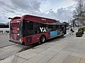 VTA 120 Express bus at Borregas, rear view.jpg