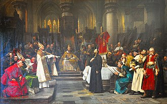 Council of Constance - Painting of Jan Hus in Council of Constance by Václav Brožík