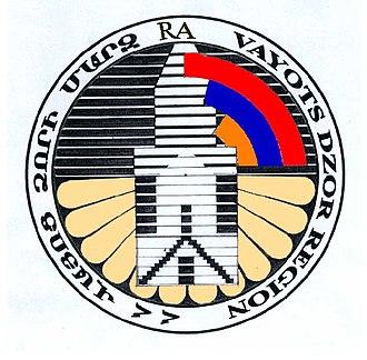 Administrative divisions of Armenia - Image: Vajots Dzor marz gerb