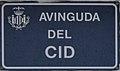 València. Avinguda del Cid. Rètol.jpg