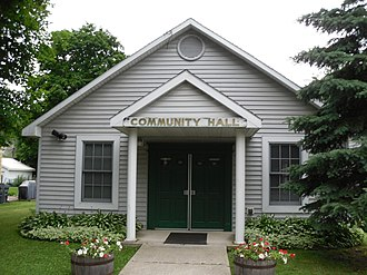 Valley Falls, New York - Community Hall in Valley Falls.