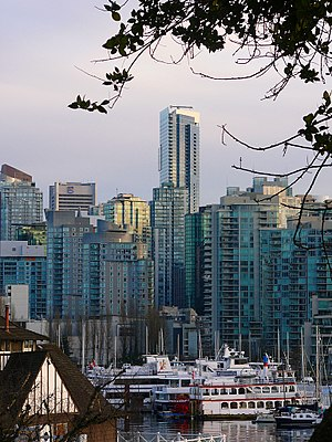 "Architecture of Vancouver - Vancouver had often been referred to the ""City of Glass"", because of the glass aesthetics that dominate the downtown core."