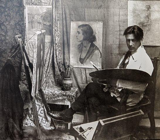 File:Vangjush Mio (in his studio).jpg - Wikimedia Commons