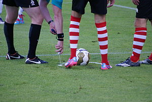 Vanishing spray - Vanishing spray used in the match between Achilles '29 and Sparta Rotterdam