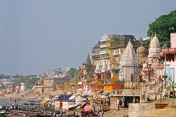 View of Varanasi and Ganges
