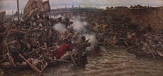 "Yermak Timofeyevich - Vasily Surikov, ""Yermak's Conquest of Siberia"""