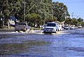 Vehicles driving though flood water on the Western Highway in Horsham.jpg
