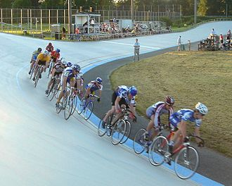 Velodrome - Bicycle racing on an outdoor velodrome.
