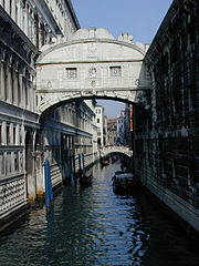 The Ponte dei Sospiri, the Bridge of Sighs