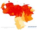 Venezuela 2011 Moreno (Brown) population proportion map.png