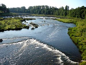 Venta (river) - The Venta river in Kuldīga