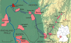 The course of the Weschnitz