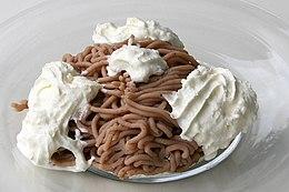 Monte bianco dolce wikipedia for Dolce di castagne