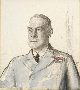 Cecil Thursby - 1918 portrait by Francis Dodd