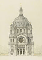 Victor Baltard - Church of Saint Augustin, Paris, elevation of the main facade - Google Art Project.jpg