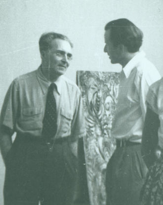 Victor Serge - Victor Serge in Wolfgang Paalen´s Studio in Mexico ca. 1944