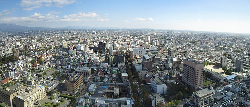 View from Gunma Prefectural Government Building east