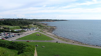 Varberg - View from Varberg Fortress, overlooking the beach promenade