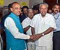 Vijay Goel meeting the Chief Minister of Kerala, Shri Pinarayi Vijayan to discuss about the preparations of FIFA U-17 World Cup, at Kochi.jpg