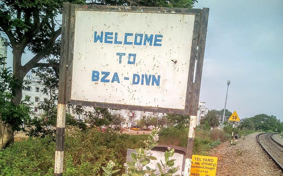 Vijayawada railway division jurisdiction signboard