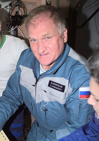 Viktor Afanasyev (cosmonaut) - Image: Viktor Afanasyev on the ISS