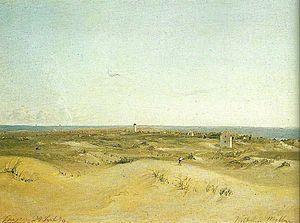 Vilhelm Melbye - Image: Vilhelm Melbye Udsigt over Skagen 1848 crop