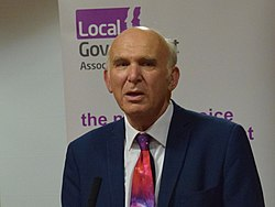 Vince Cable at Brighton 2018 (cropped)