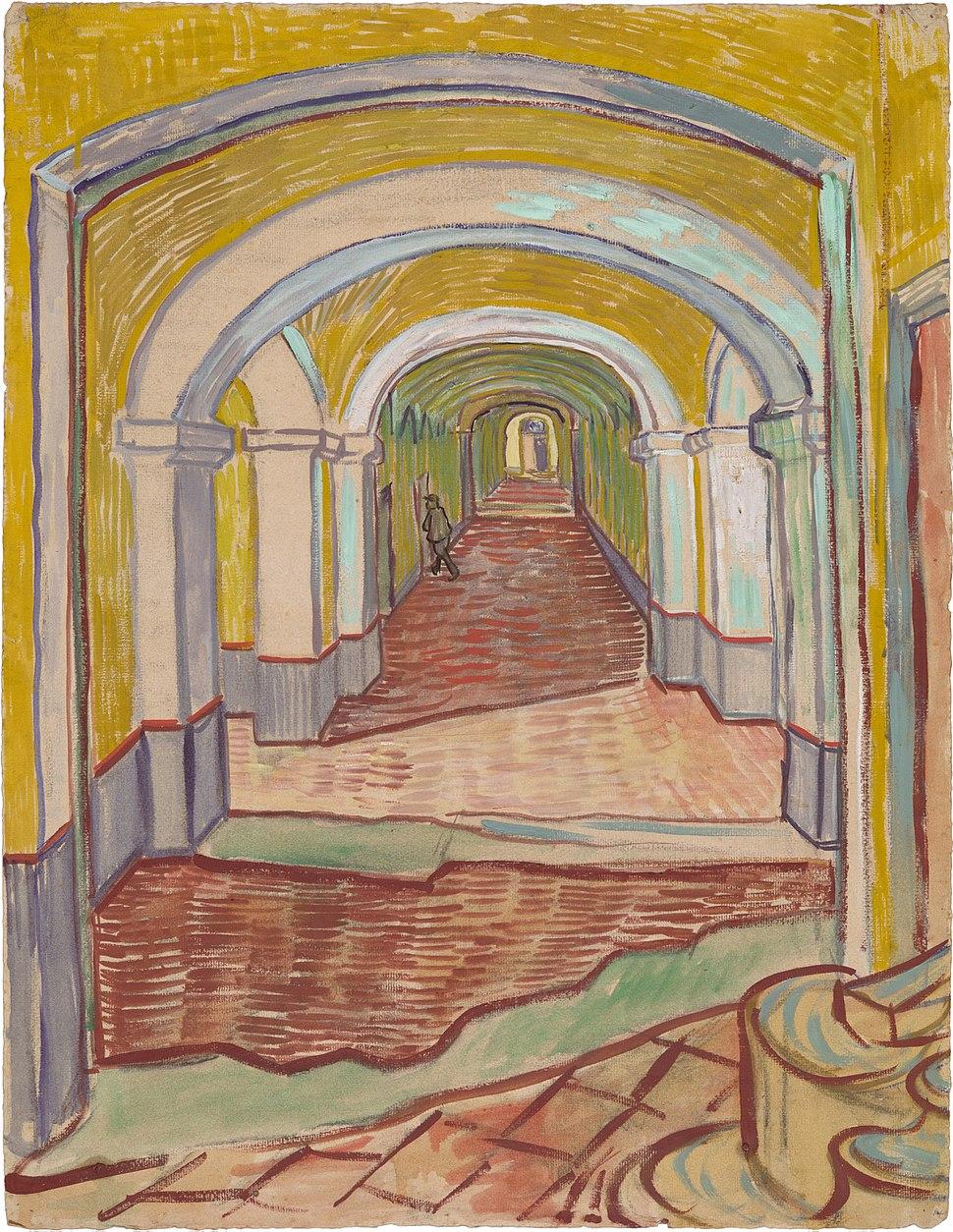 Vincent van Gogh - Corridor in the Asylum