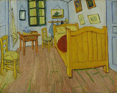 Bedroom in Arles, 1888. Van Gogh Museum, Amsterdam