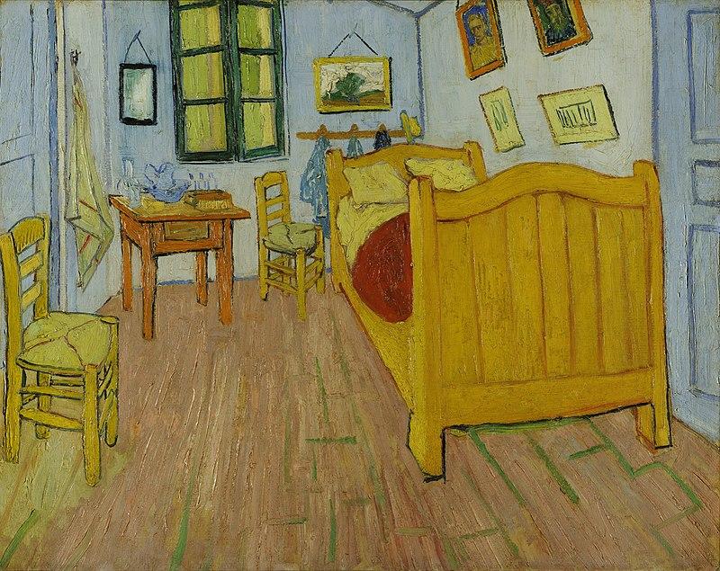 van gogh : Vie œuvre lettres à Théo  800px-Vincent_van_Gogh_-_De_slaapkamer_-_Google_Art_Project