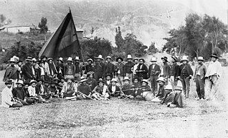 Battle of Palonegro - Conservative soldiers before the battle