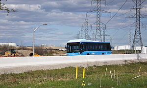 York University Busway - Viva Orange operating on the Hydro Corridor Busway